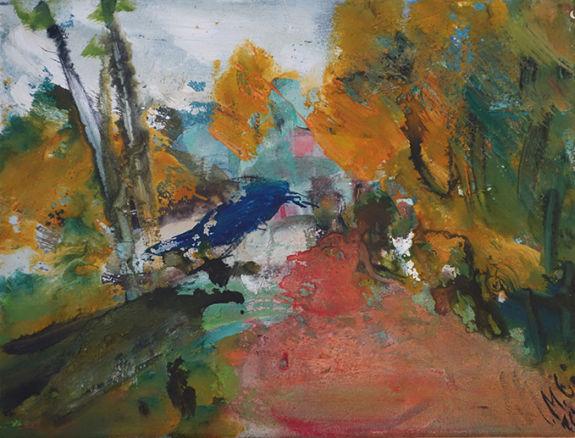 Christl Maria Goethner, Malerei, Leipziger Schule, Herbstx