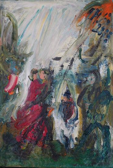 Christl Maria Goethner, Malerei, Leipziger Schule, Karussellx