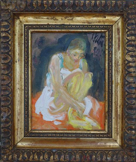 Christl Maria Goethner, Malerei, Leipziger Schule, Kleine Taenzerinx