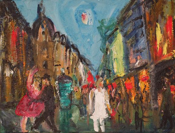 Christl Maria Goethner, Malerei, Leipziger Schule, Willkommenx
